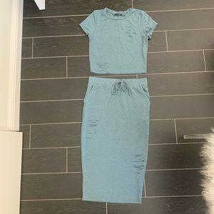 2 piece fashion nova skirt set